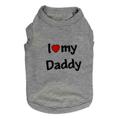 Haogo Pet Puppy Shirt Small Dog Pet Clothes I Love My Mommy/Daddy Printed Vest T-Shirt >> More infor at the link of image  : Dog shirts