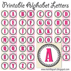 Free printable vintage ornament alphabet letters - ausdruckbare Buchstaben - freebie