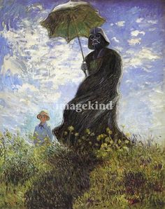 Vader with Parasol | David Barton   (might need to buy this for my house)  :)