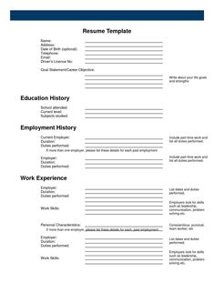 resume examples best good detailed informed accurate builder template free work experience history employment background education skills languages