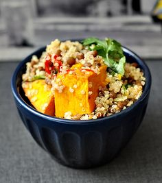 Pumpkin, Lentil & Quinoa Salad...looks like the perfect lunch to me!