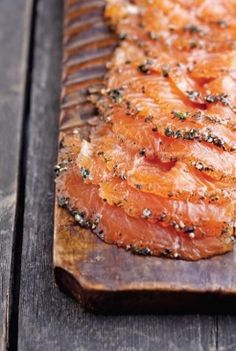 Shit yeah... I grew up around Swedish food and love it even though I'm not a bit Swedish. Dill and Black Pepper Gravlax with Mini Potato Pancakes and Chive Sour Cream