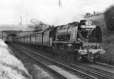 Coronation Pacific 46226 'Duchess of Norfolk' leaves Preston Brook Tunnel while heading the nothbound 'Caledonian', 1950