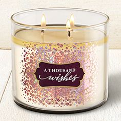 A Thousand Wishes 3-Wick Candle - Home Fragrance 1037181 - Bath & Body Works
