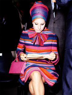 Barbra Streisand at 60s fashion show