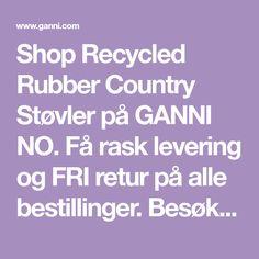 Shop Recycled Rubber Country Støvler på GANNI NO. Få rask levering og FRI retur på alle bestillinger. Besøk GANNI.com Recycled Rubber, Boat Neck, Recycling, Boots, Platform, Crotch Boots, Shoe Boot, Upcycle