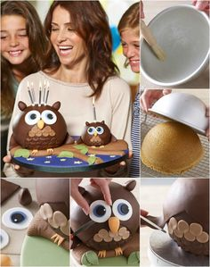 Bake an Adorable and Delicious Owl Sponge Cake