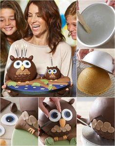 Bake an Adorable and Delicious Owl Sponge Cake