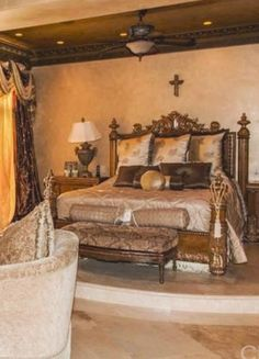 15 Extravagantly Beautiful Tuscan Style Bedrooms | Pinterest ...
