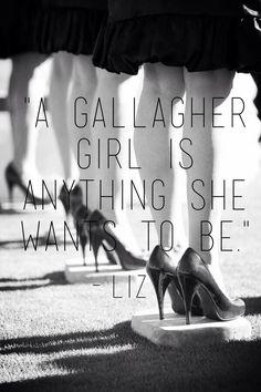 Gallagher girlsK i love Liz. Or Bex. Or anyone but Liz oh Elizabeth Sutton. I loved the brainiac the most.