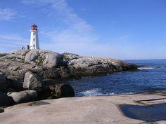 Peggy's Cove Lighthouse, near Halifax, Nova Scotia Nova Scotia Travel, Visit Nova Scotia, Beautiful Places To Visit, Places To See, Beautiful Things, Famous Lighthouses, Canada Cruise, Harbor Beach, That Way