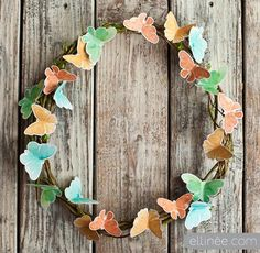 DIY Crafts :DIY Butterfly  : DIY spring butterfly wreath