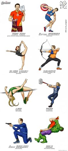 Olympic-avengers. Heck. Yes. Loki is my favorite! ^_^