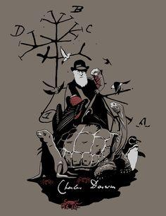 Happy B-Day, Charles Darwin! Darwin Evolution, Evolution Science, Darwin Tattoo, Ganesha Art, Evolution T Shirt, Charles Darwin, Happy B Day, Prehistory, Science Art