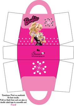 print free barbie doll printables from invitations, to party hats, and favor boxes. Barbie Theme Party, Barbie Birthday Party, Doll Party, Birthday Box, Party Themes, Party Ideas, Barbie Box, Barbie Dolls, Free Barbie