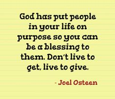 Amen to that! (Joel Osteen)