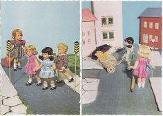 2 x AK KÄTHE KRUSE 1959 Puppe Puppen       ( 36952