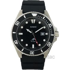 Casio MDV106-1A Men s Duro 200M Analog Diver s Watch w/ Black Resin Band