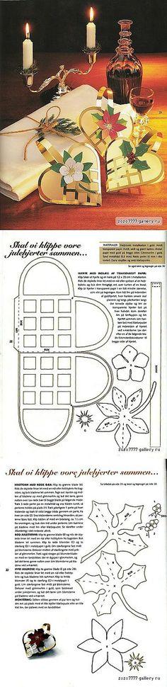Christmas Craft идеи: бумага сердца сумки | ручная работа, вязание крючком, ремесло