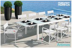 Una dintre atracțiile majore pentru oaspeții voștri poate fi cina pe malul lacului, ce ziceți? În culori delicate și cu design chic, scaunul Artimes este un refresh binevenit în orice decor de exterior. Este pliabil, se depozitează ușor.