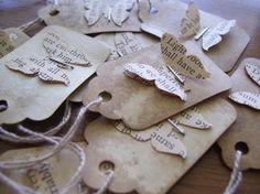 Tiny Tags - Butterflies by DuctTapeAndDenim, via Flickr