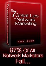 Sieg is one of the pioneers of internet network marketing, and the author of the groundbreaking free report, The 7  Great Lies of Network Marketing  Ann Sieg helps remove the stigma associated with selling.