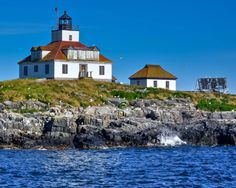 Maine Lighthouses and Beyond: Egg Rock Lighthouse.  To enjoy my blog on lighthouses, flowers, and wildlife, click on photo.
