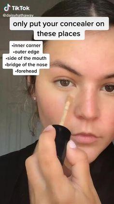 Contour Makeup, Skin Makeup, Makeup Art, How To Face Makeup, Makeup Hacks Concealer, Soft Eye Makeup, Glow Makeup, Makeup Geek, Makeup Tools