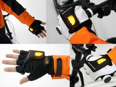 Turn Signal Gloves for Bike Riders