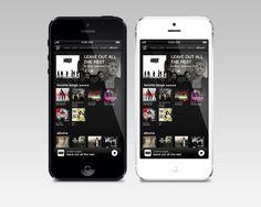 Music App Interface by Alex Bender, via Behance