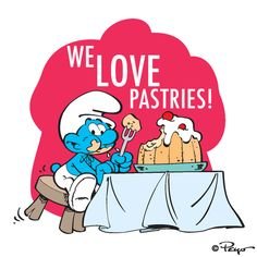 What is your favorite pastry? Looney Tunes Cartoons, Old Cartoons, Disney Princess Cartoons, Smurfette, Blue Magic, Practical Jokes, Lizzie Mcguire, Patrick Star, Cartoon Characters
