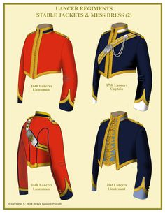 Stable Jackets of Lancer Regiments By Bruce Bassett-Powell British Army Uniform, British Uniforms, Military Costumes, Military Uniforms, English Army, African American History, Native American, Royal Clothing, Uniform Design