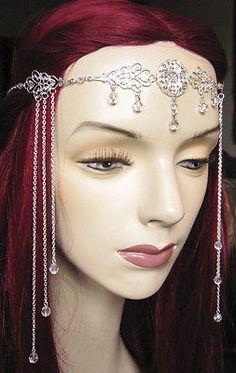 Medieval-RENAISSANCE-Princess-BRIDAL-Crown-CIRCLET-Headpiece-Headdress-Tiara