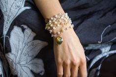 White Baroque Pearl Rose Quartz and Labradorite by jaunebleu