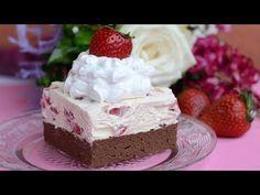 Kolač od griza i jagoda koji nećete morati peći, pravo kremasto osvježenje! Easy Cake Recipes, Baking Recipes, Cookie Recipes, Dessert Recipes, Food Cakes, Cupcake Cakes, Mini Cheesecake, Nutella Cheesecake, Antipasto