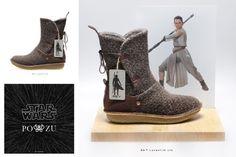 PO-ZU x Star Wars - Rey boot preview