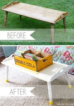 Goodwill Coffe Table Makeover | Something to be Found