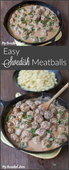 My family loves this easy Swedish Meatball Recipe. I double the meatballs when I cook them and freeze half. So next time we want them I just need to make the sauce!