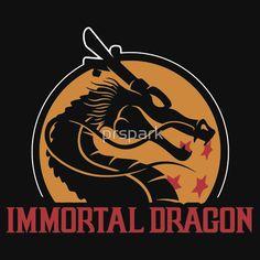 mortal kombat, dragon ball z parody