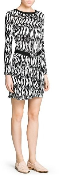 MANGO Crepe Appliqué Monochrome Dress on shopstyle.com