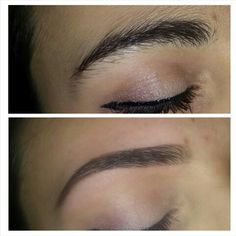 Oh, do we EVER love a brow before and after photo!