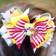 Dumbo Boutique Bow, Disney Bow, OTT Bow, Disney World Vacation Bow, Boutique Bow, Disney Headband, Dumbo Bow, Circus Bow on Etsy, $22.95