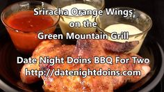 Sriracha Orange Wings on the Green Mountain Grill
