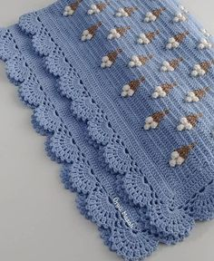 Embroidery for Beginners & Embroidery Stitches & Embroidery Patterns & Embroidery Funny & Machine Embroidery Baby Afghan Crochet, Granny Square Crochet Pattern, Crochet Blanket Patterns, Baby Knitting Patterns, Crochet Motif, Crochet Lace, Crochet Stitches, Embroidery Patterns, Embroidered Pillowcases