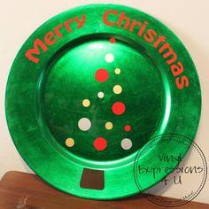 Vinyl: Christmas Plate @VinylExpressions