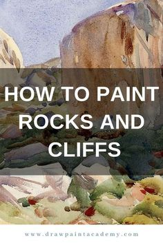 How To Paint Rocks And Cliffs Draw Paint Academy - Rocks And Cliffs Form A Key Part Of Landscape Painting But Many People Seem To Struggle With Painting Them This Is Probably Due To The Organic And Irregular Shapes They Come In Combined With A Lack Watercolor Painting Techniques, Watercolor Tips, Watercolour Tutorials, Painting Videos, Painting Lessons, Painting & Drawing, Watercolor Paintings, Art Lessons, Watercolors