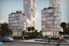 Mixed Building in Beirut - Kuan Studio / Visualization Lebanese Civil War, Design Guidelines, 3d Visualization, Concrete Jungle, Beirut, Urban Design, Multi Story Building, Tower, Construction