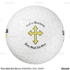 Thou Shalt Not Slice Pack Of Golf Balls