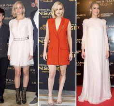 Jennifer Lawrence Sports Fierce Fashions For Hunger Games' European Press Tour