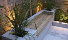 Bespoke Garden Design - Clapham Common - Abstract Landscapes Ltd - Garten Terrasse 2 - Backyard Seating, Backyard Landscaping, Outdoor Seating, Built In Garden Seating, Backyard Patio, Landscaping Ideas, Small Garden Design, Patio Design, Exterior Design